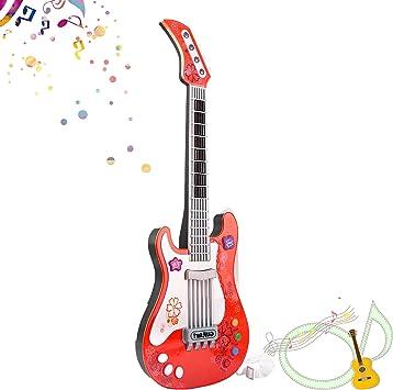 SANLINKEE Guitarra para niños Bebé Guitarra eléctrica Juguete para ...