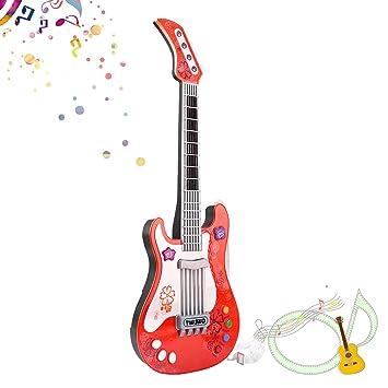 SANLINKEE Guitarra para niños Bebé Guitarra eléctrica Juguete para niños Guitarra Musical Guitarra Juguete sin Cuerda