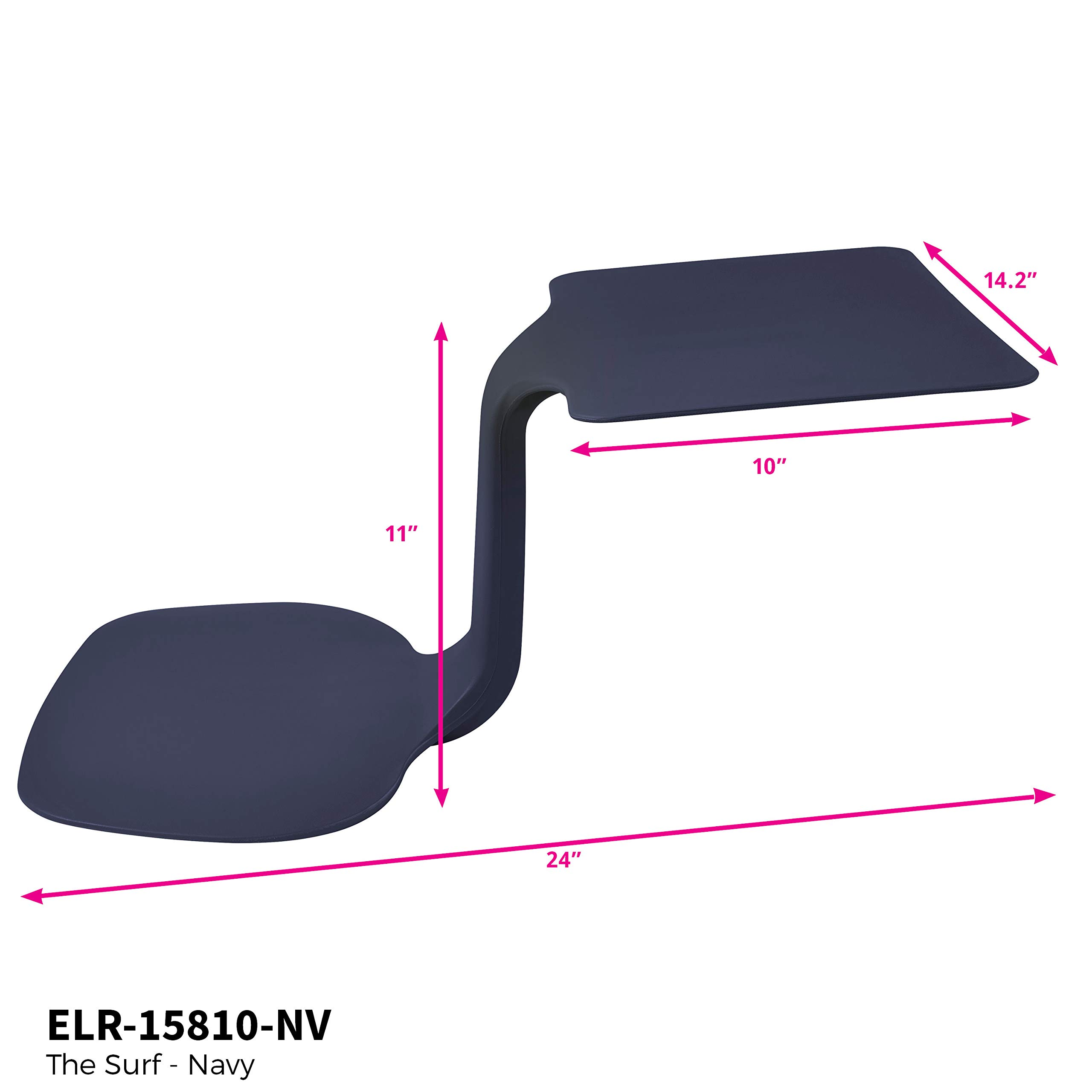ECR4Kids The Surf Portable Lap Desk/Laptop Stand/Writing Table, Navy by ECR4Kids (Image #8)