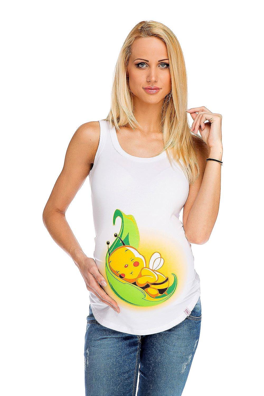 Top de maternité et grossesse abeille sur une feuille MY TUMMY ®©™