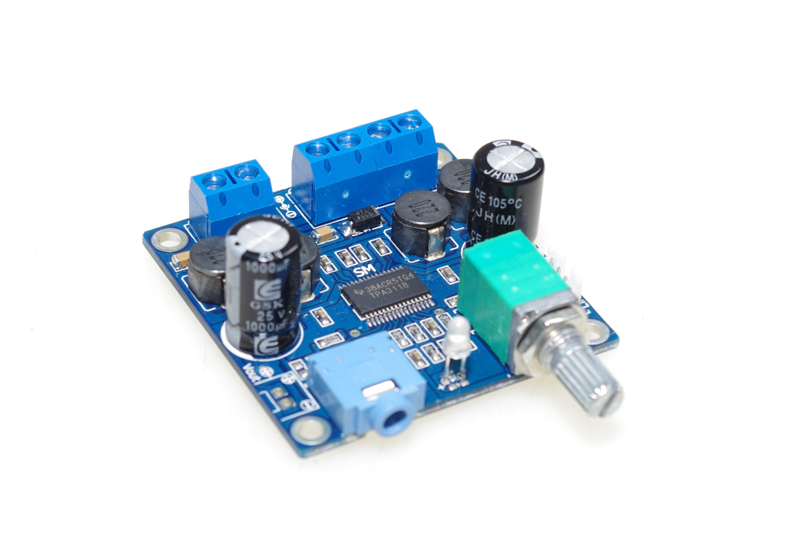 SMAKN® TPA3118 numeric 12V power amplifier board finished board /with switch potentiometer /Parallel Mono by SMAKN