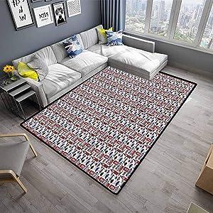 Carpet mat London Carpet for Home Decor UK English Landmarks (5'x7')