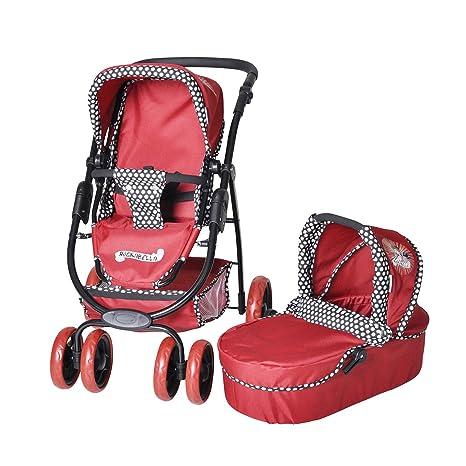Knorrtoys 92907 Coco Rockabella - Cochecito combi para muñecos (incluye silla de paseo y capazo
