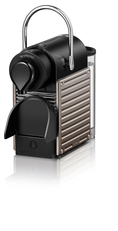 Nespresso Pixie Krups YY1201 - Máquina de café, apagado automático, sistema calentamiento rápido, 1260 W, 0.7 L, titanio