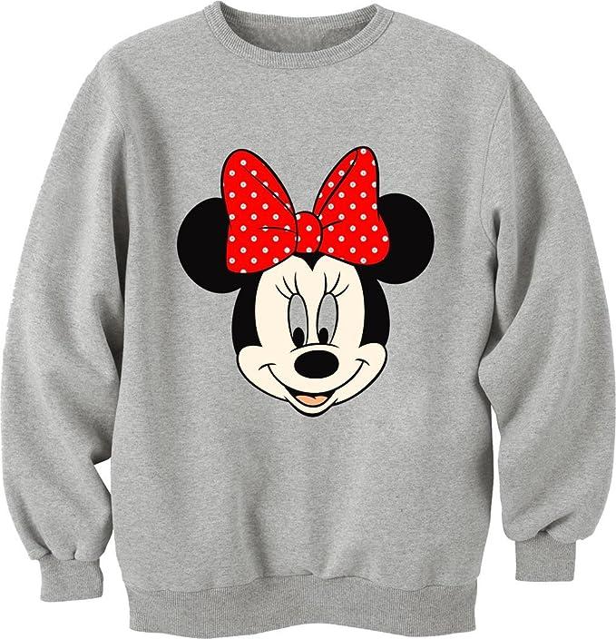 Minnie Mouse Unisex Crewneck-Sudadera gris medium: Amazon.es: Ropa y accesorios