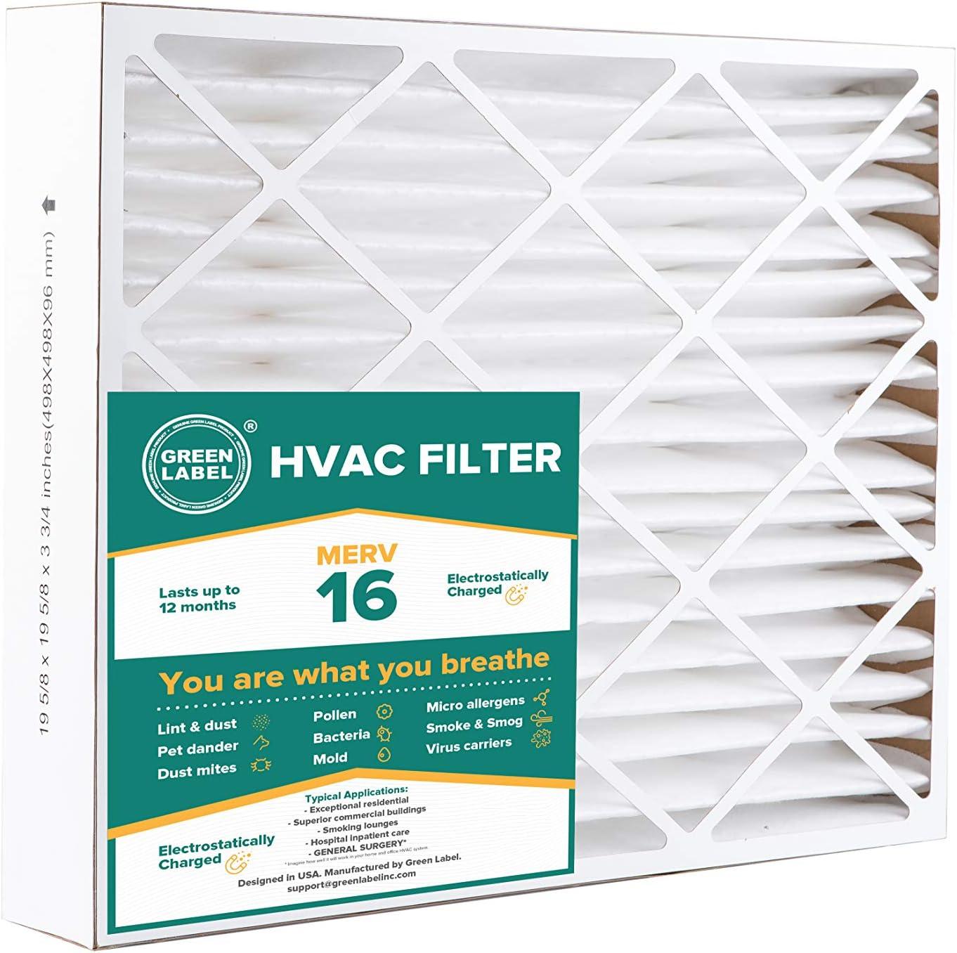Nordic Pure 20x22x1 Exact MERV 13 Tru Mini Pleat AC Furnace Air Filters 3 Pack