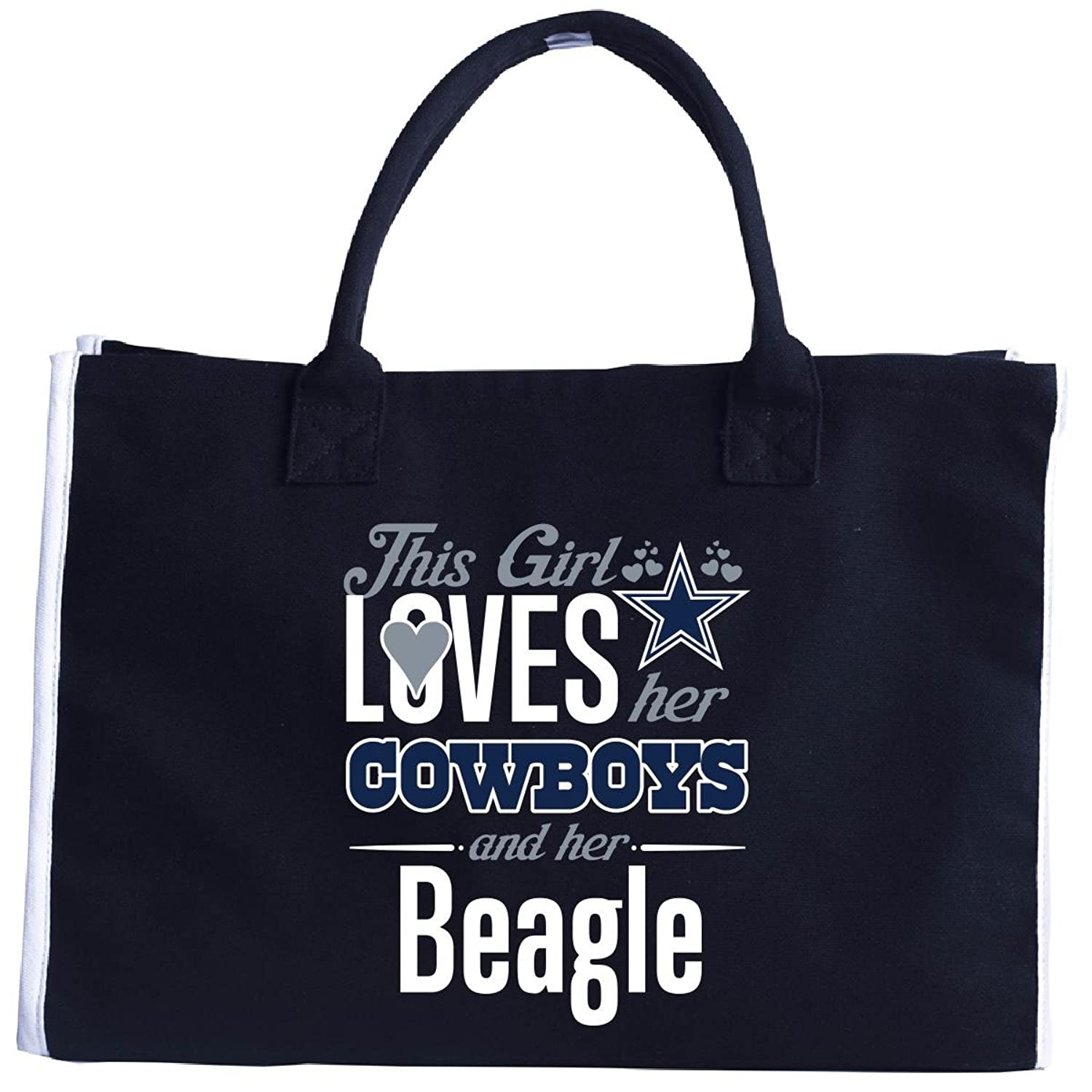 This Girl Loves Her Cowboys And Her Beagle Cool Gift - Tote Bag