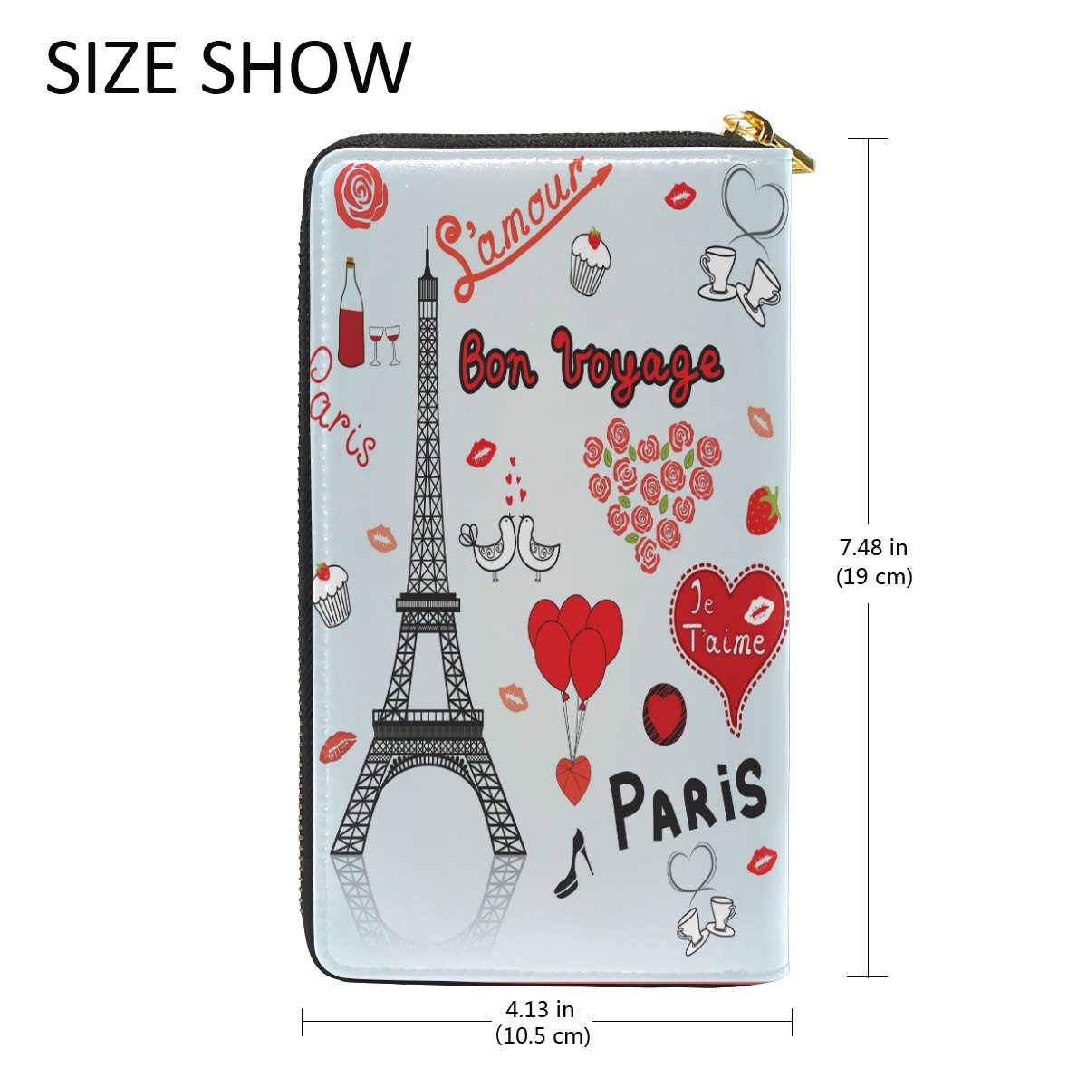 Amazon.com: Torre Eiffel de París largo Passport Carteras ...
