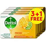 Dettol Fresh Anti-bacterial Bar Soap 165g 3+1 Free