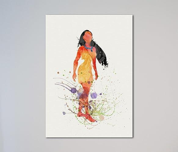 Amazon Pocahontas Print Handmade