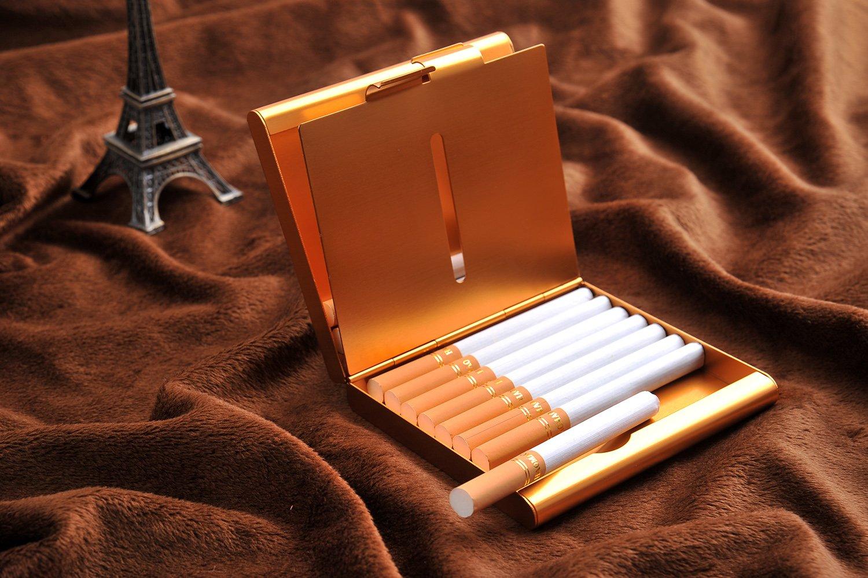 f/ür 18 Zigaretten DE modern elegant Mod 465-04 Quantum Abacus Zigarettenetui aus Aluminium