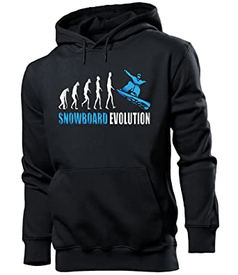 Love-All-My-Shirts Wintersport - Apres SKI - Snowboard Evolution - Cooler Comedy Hombre Sudadera con Capucha tamaño S to XXL: Amazon.es: Ropa y accesorios