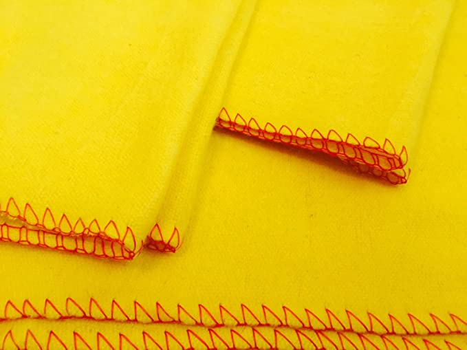 20 x High Quality Large Soft Polishing Cloth Clean Yellow Dusters 100/% Cotton UK