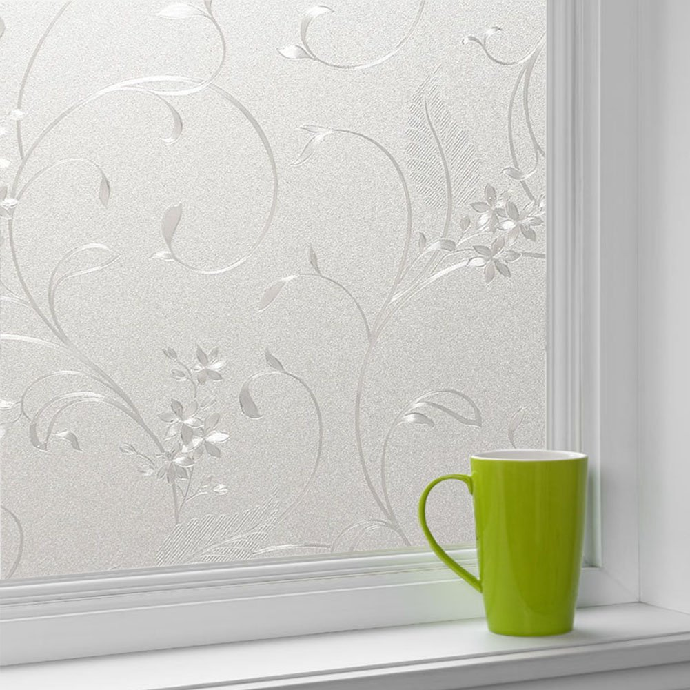 Cumyton Self-Adhesive Window Film Door Sticker glass film 35.4 by 78.7 inch