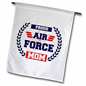 """3dRose Air Force Mom. - Garden Flag, 12 by 18"""""""