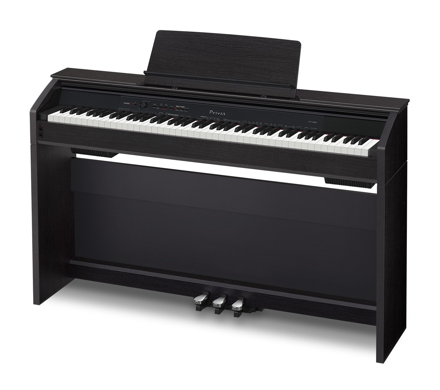 Casio PX860 BK Privia Digital Home Piano, Black with Power Supply by Casio