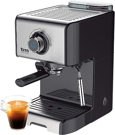 TM Electron TMPCF101 cafetera Espresso Manual con 15 Bares de presión, 1200W, depósito 1,2 L, espumador de Leche, 3 Funciones, Fabricado en Acero Inoxidable, 1 Cups: Amazon.es: Hogar