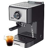 TM Electron TMPCF101 cafetera Espresso Manual con 15 Bares de presión, 1200W, depósito 1,2 L, espumador de Leche, 3…
