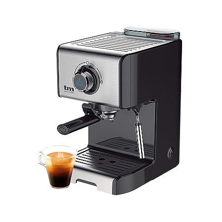 TM Electron TMPCF101 cafetera Espresso Manual con 15 Bares de presión, 1200W, depósito 1,2 L, espumador de Leche, 3 Funciones, Fabricado en Acero ...