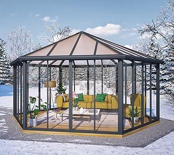Amazon De Palram Wintergarten Pavillon Veranda Garda Grau