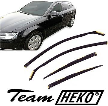 J J Automotive Windabweiser Regenabweiser Für A3 8p Sportback 5 Türer 2004 2012 4tlg Heko Dunkel Auto