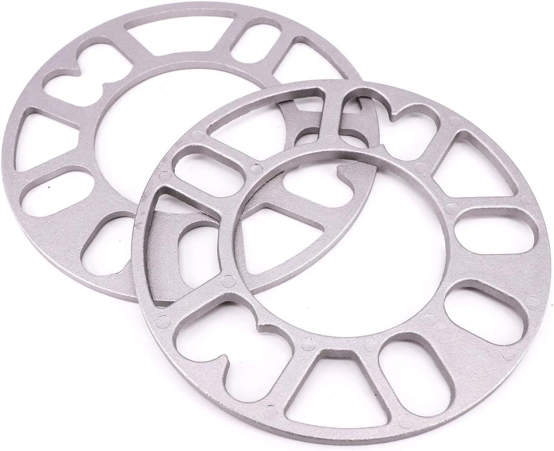 2x 5MM /Élargisseurs de voie Entretoise de roue en alliage 4 et 5 goujon adapteur Universel