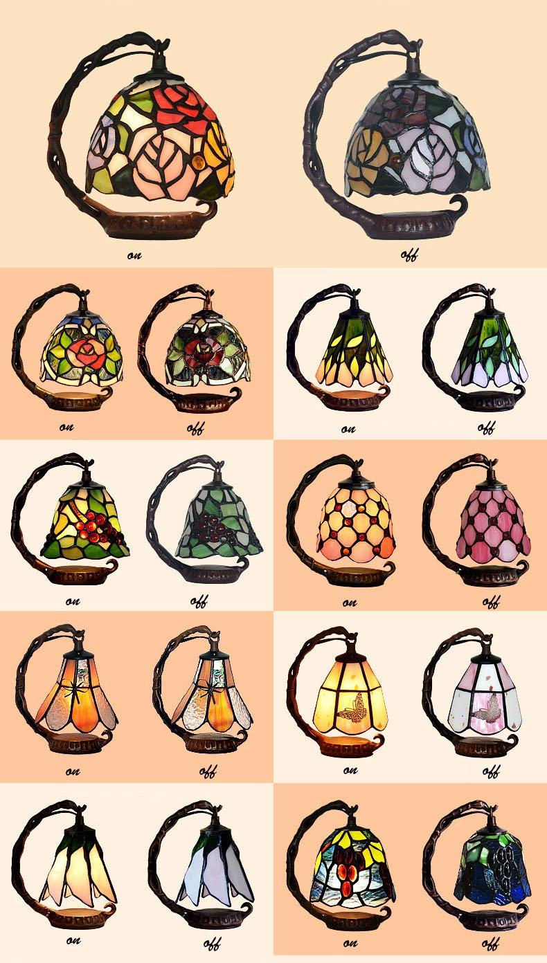Gweat Creative LED Warm Bedside Lamp Feeding European Small Luxury Lamp Night Light by Gweat Tiffany (Image #3)