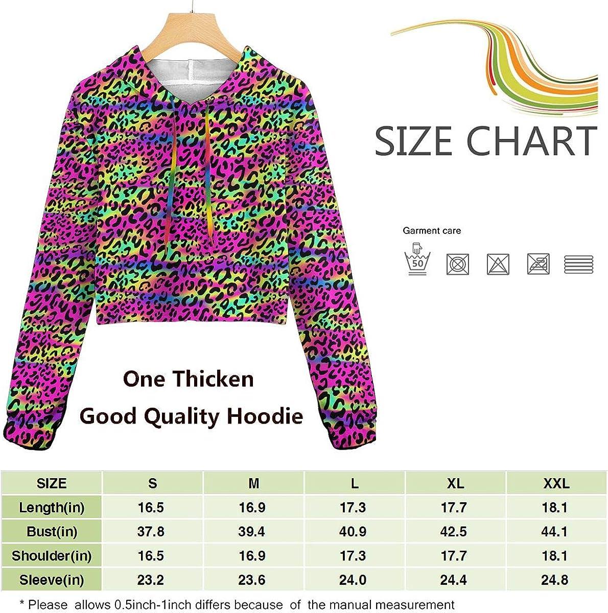 Rainbow Leopard Spots Women Sweatshirt Casual Hoodie Tshirt T Hoodies Cropped Crop Tops