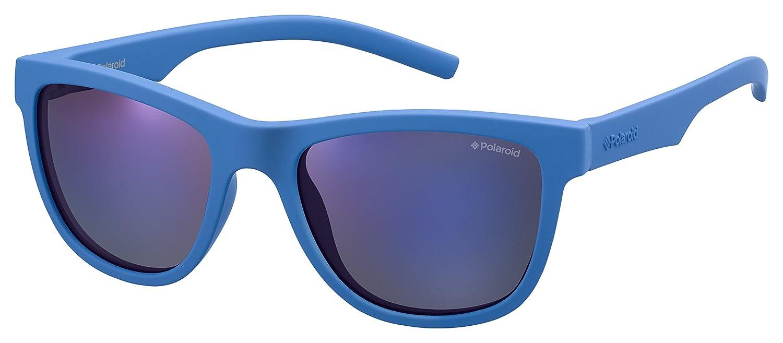 Polaroid Kids Wayfarer Sunglasses in Blue Polarised PLD 8018/S ZDI 47 Bluette/Greyblmirror Pz PLD8018S