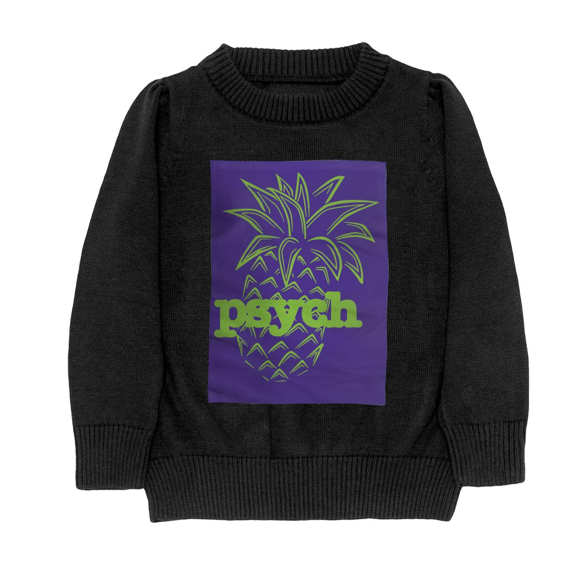 WWTBBJ-B Psych Pineapple Casual Teenager Boys Girls Unisex Sweater Keep Warm