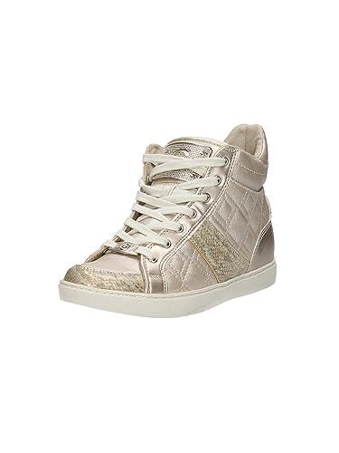 Guess Damen Sneaker Schnürschuhe Beige: : Schuhe