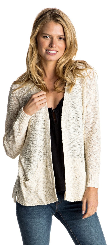 Roxy Junior's Move On Up Cardigan Sweater, Pristine/Angora, M