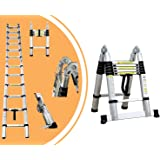 Leogreen - Escalera Multiusos, Escalera Telescópica, 3,8 Metro(s), Barra estabilizadora, EN 131, Estándar/Certificación: EN131, Número de peldaños: 12