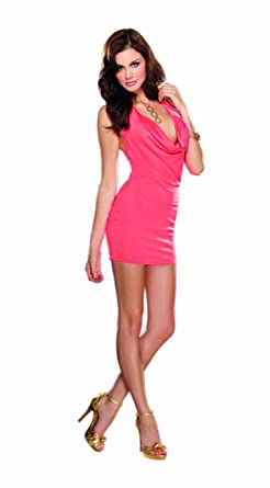 7984298ae413 Amazon.com: Dreamgirl Women's Silky Knit Halter Dress: Adult Exotic ...