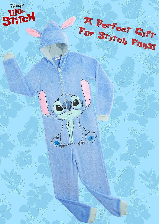 Kigurumi Pigiama Invernale Unisex Onesie Cosplay Pigiama Intero in Pile Morbido per Donna Uomo Pigiami Interi Stitch Ufficiale Disney Stitch Costume Regalo di Compleanno Natale