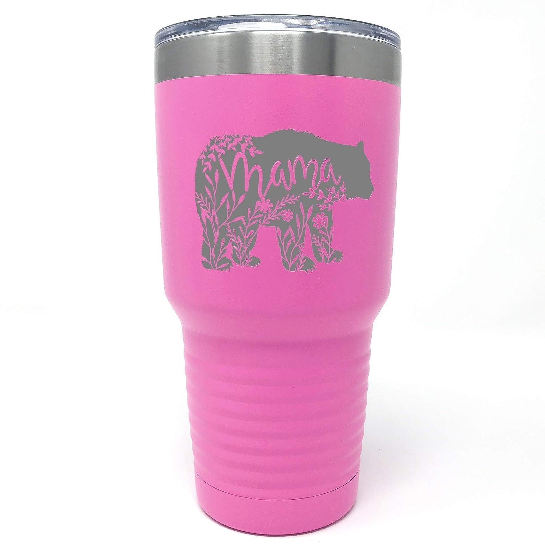 30oz Drinkware Engraved Mug Gift for Mom Mama Bear Mug Personalized Iced Coffee Tumbler 20oz Mothers Day Tumbler 15oz