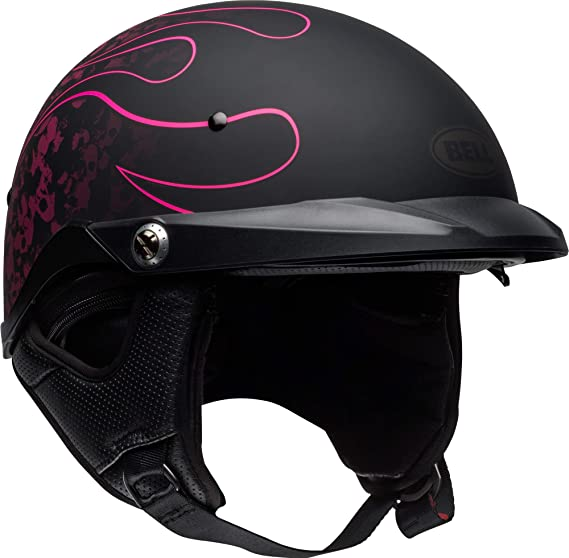 Bell Pit Boss Open-Face Motorcycle Helmet (Catacomb Pinstripe Pink