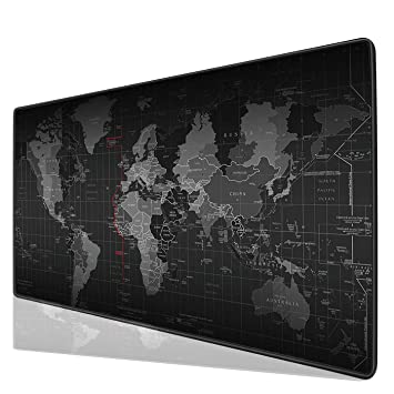 Anti-Rutsch Weltkarte Muster große Maus Büro Schreibtisch Map Pad matte Mauspad