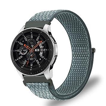 Fintie Correa para Samsung Galaxy Watch 46mm / Gear S3 Frontier/Gear S3 Classic - 22mm Pulsera de Repuesto de Nylon Ligera y Respirable con Cierre ...