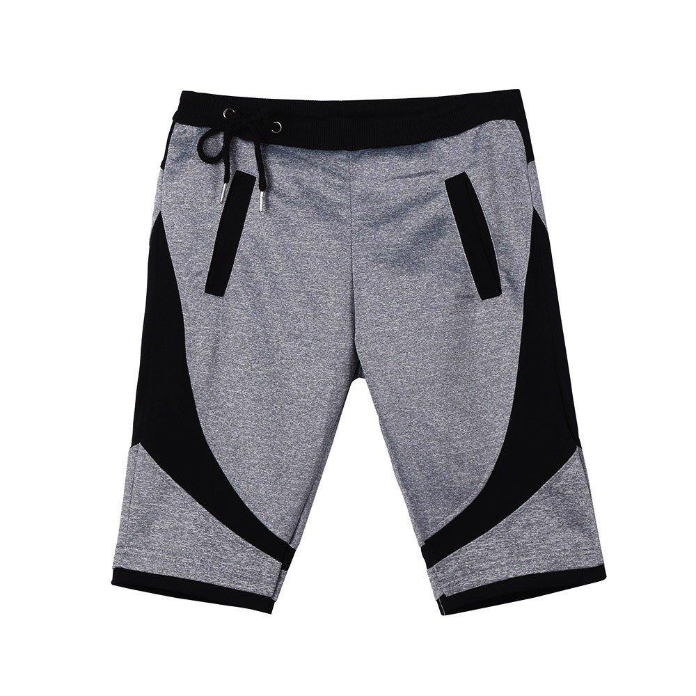 Men Short Jogger Gyms Shorts Elastic Stretchy Bodybuilding Muscle Sweatpants