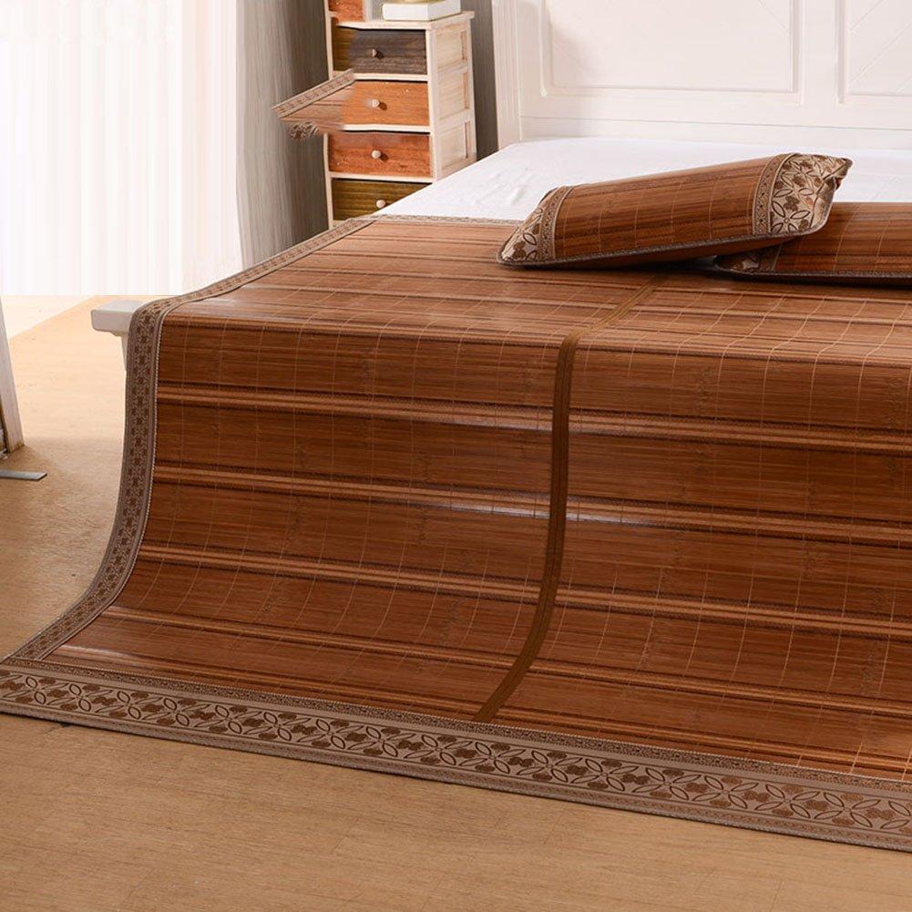WENZHE Bambus Matratzen Sommer-Schlafmatten Strohmatte Teppiche Winter Und Sommer Doppelnutzen Zusammenklappbar Doppelbett Multifunktion, 1,5/1,8 M (größe : 1.8×2.0m)