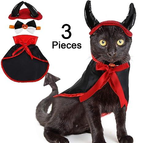 Amazon.com: Willbond - Disfraz de gato de 3 piezas, disfraz ...