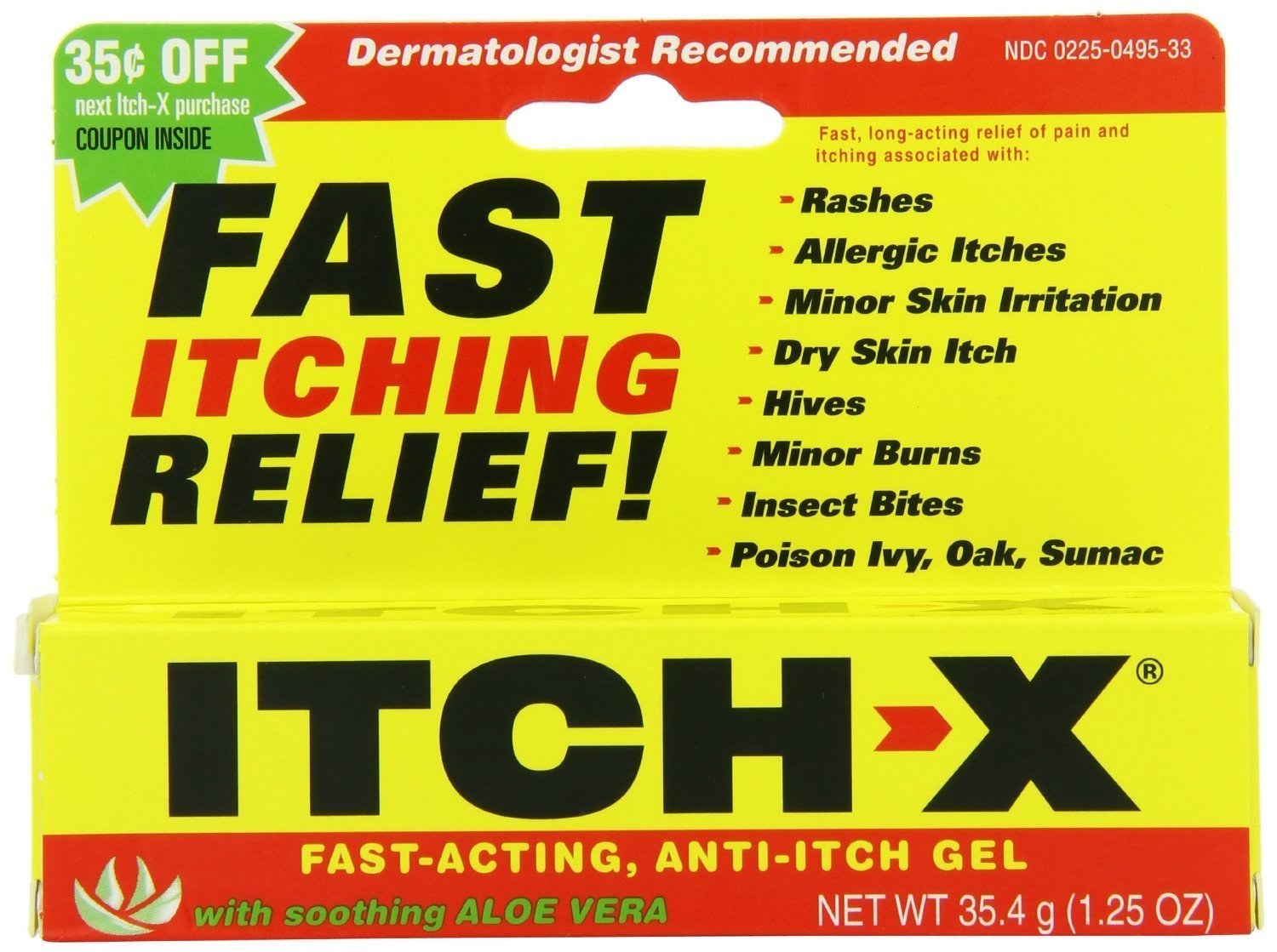 Itch-x Anti-Itch Gel with Aloe Vera, 3 Count by Itch-x