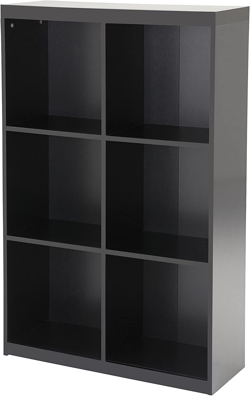 Tesco NEW Maine 2x3 6 Cube Bookcase - Gloss Black