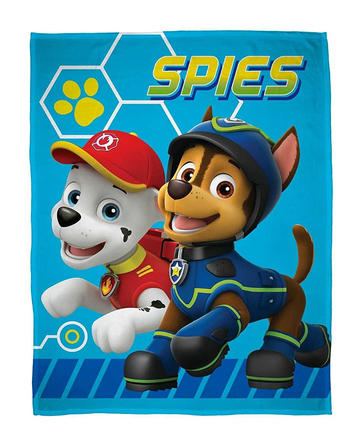 PAW Patrol 'Spy' Fleece Blanket - Large Print Design CW PAWSPYFL002UK