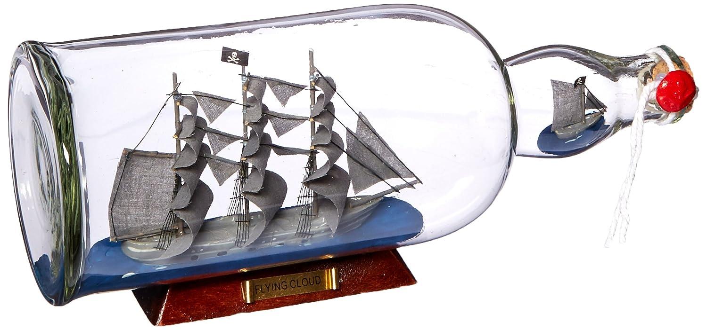 Hampton Flying Dutchman modelo náutico barco en una botella de cristal, 11