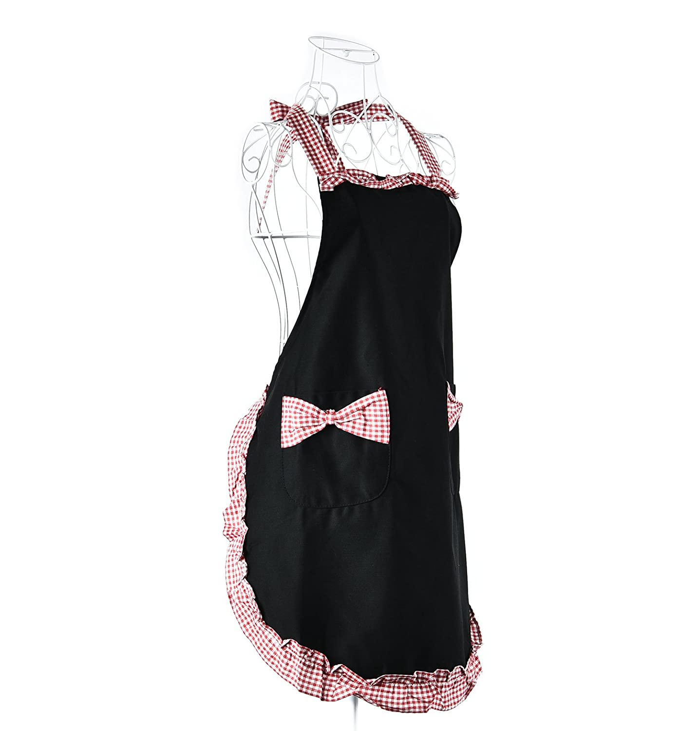 Fashion Cute Lady's Retro Vintage Kitchen Flirty Bowknot