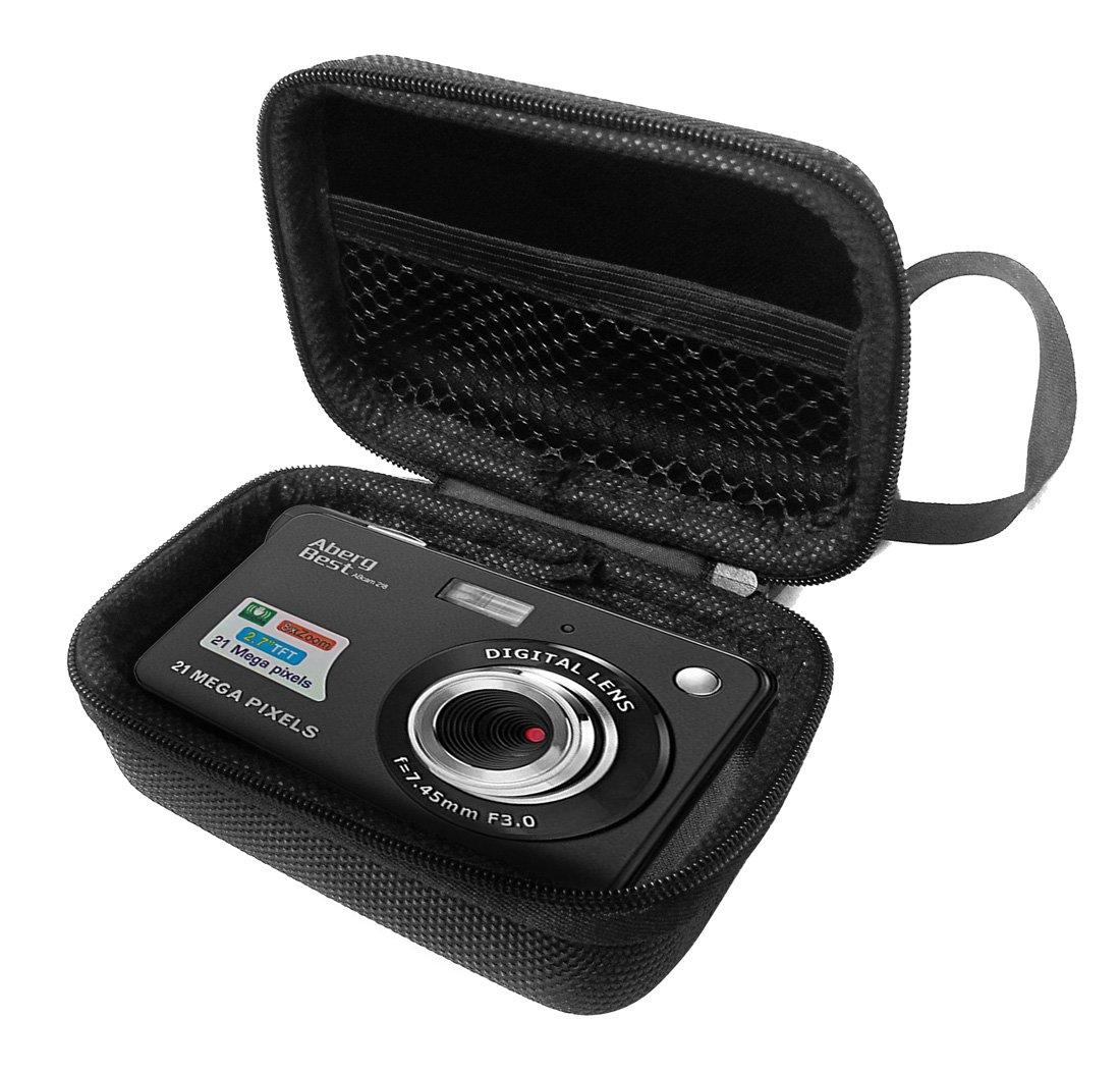 FitSand Hard Case for Aberg Best 21 Mega Pixels 2.7'' LCD Rechargeable HD Digital Camera Travel Zipper Carry EVA Best Protection Box