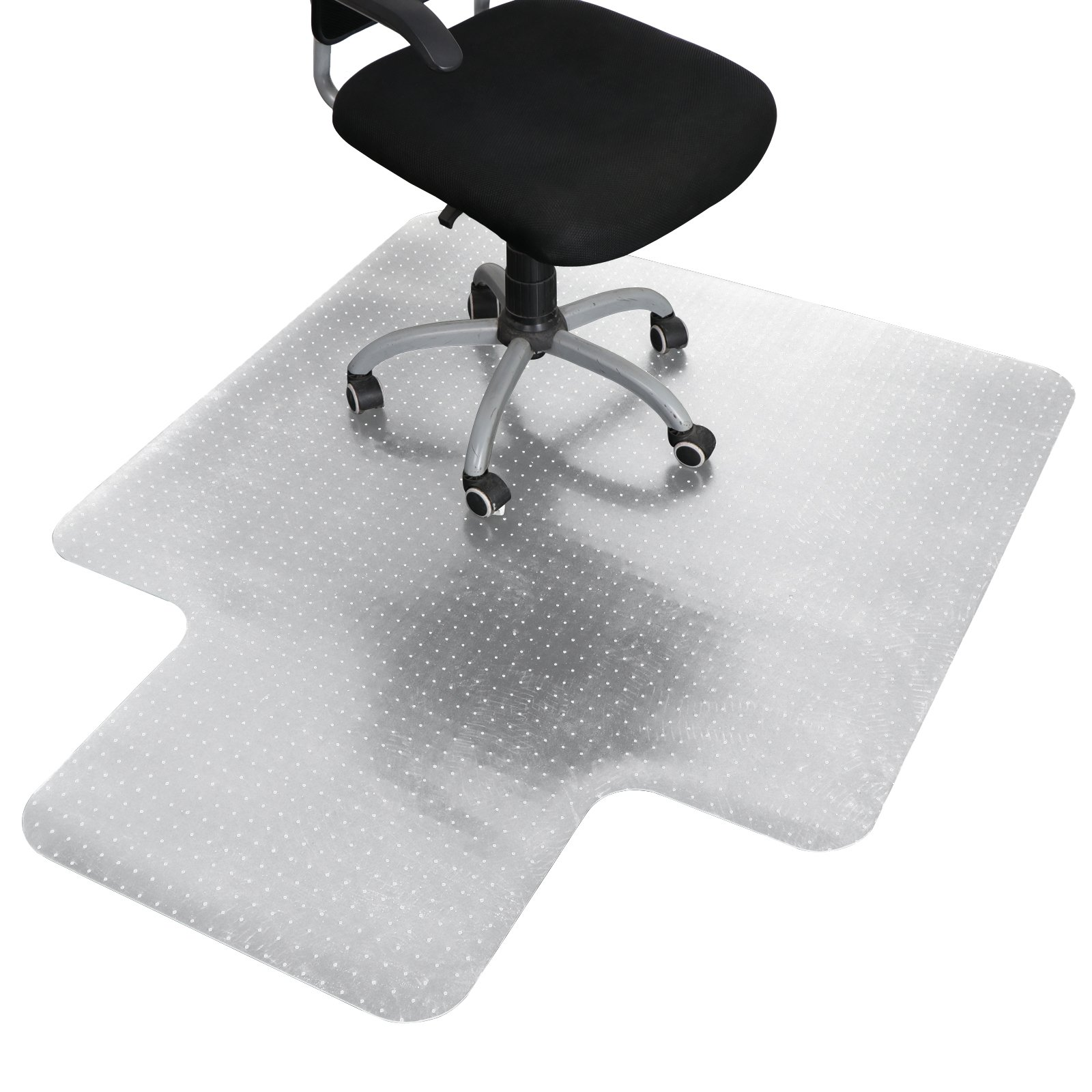 ZENY 48'' x 60'' Office Chair Mat for Carpet Floor,1/8'' Thick PVC Polycarbonate Computer Desk Floor Mats W/Lip,Home Office Floot Protector