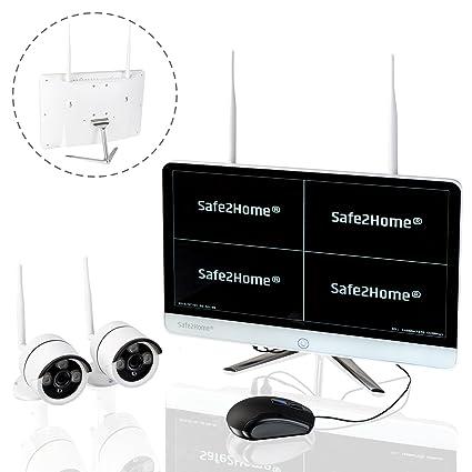 SAFEPRINT 2home ® Juego de Vigilancia inalámbricos Alemán – 2 x Full HD CAM Visión Nocturna